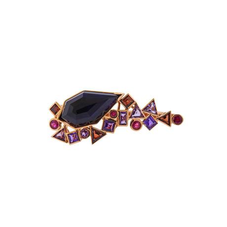 Stephen Webster 18k Rose Gold Struck Multi-Stone Two Finger Ring // Ring Size: 6.75