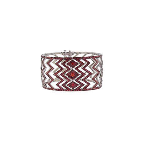 Stephen Webster 18k White Gold Lady Stardust Multi-Color Sapphire Bracelet