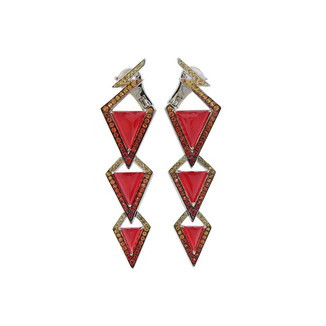 Stephen Webster 18k White Gold Lady Stardust Multi-Stone Gold Earrings
