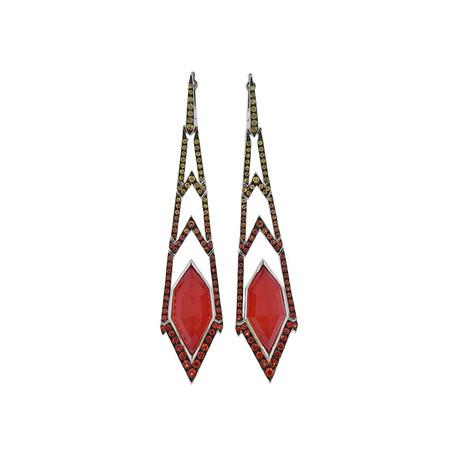Stephen Webster 18k White Gold Lady Stardust Multi-Stone Earrings I
