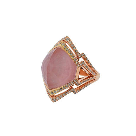 Stephen Webster 18k Rose Gold Lady Stardust Multi-Stone Ring // Ring Size: 7