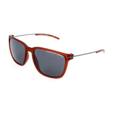 Unisex P8637 Sunglasses // Red Transparent