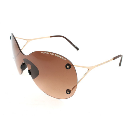 Women's P8621 Sunglasses // Gold + Brown