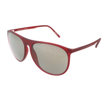 Unisex P8596 Sunglasses // Red