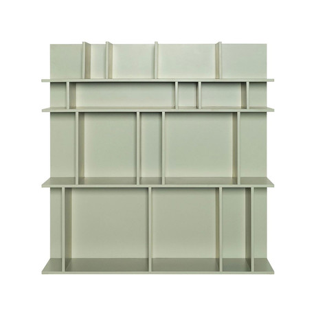 Aksel Wall Shelf // Dust Green Lacquer (Tall)