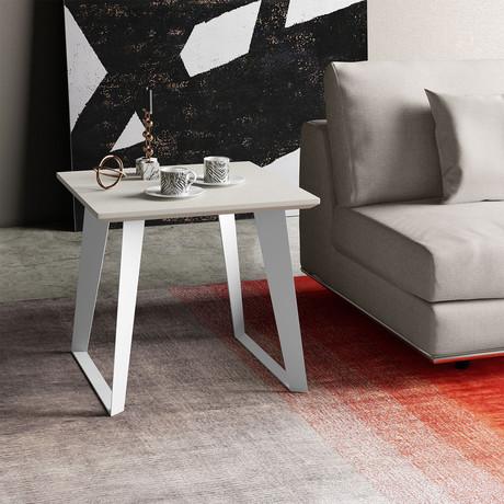 Amsterdam Side Table // White Sand Concrete