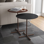 Highbury Nesting Side Tables // Black + Rosewood