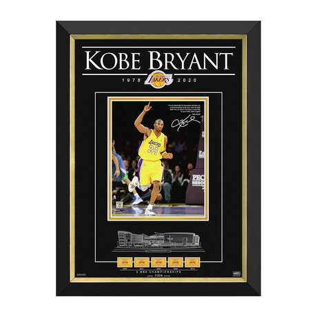 Kobe Bryant // Icon Limited Edition Tribute // Facsimile Signed