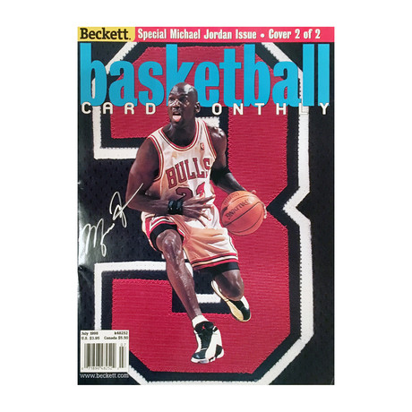 Michael Jordan // Autographed Basketball Monthly Magazine