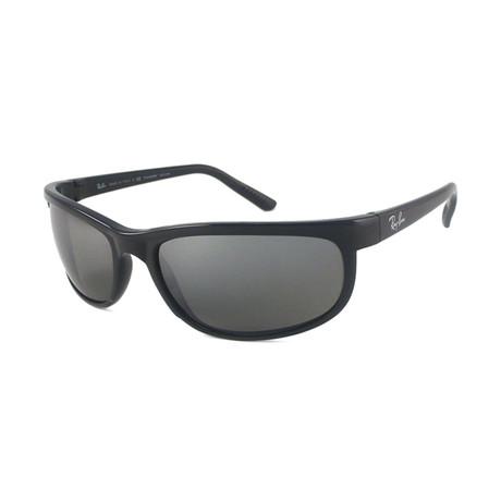 Ray-Ban // Men's Predator 2 Polarized Sunglasses // Matte Black + Gray Mirror