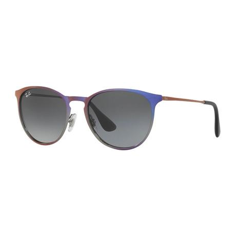Ray-Ban // Men's Erika Metal Sunglasses // Violet Metallic + Light Gray Gradient