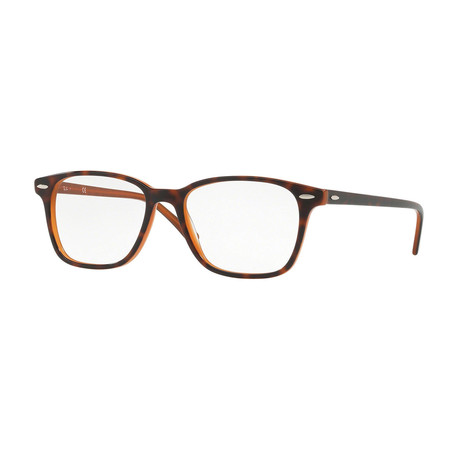 Men's 0RX7119 Rectangle Optical Frames // Havana