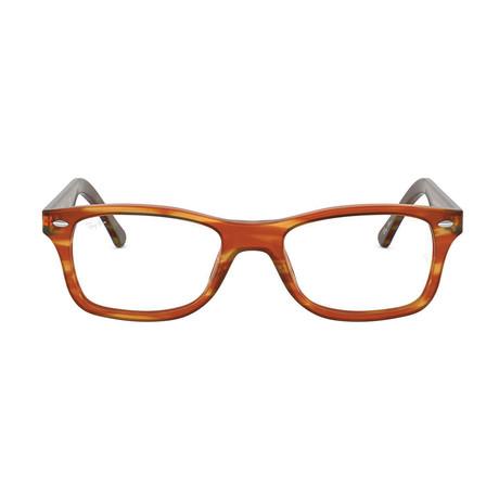 Men's Rectangle Optical Frames // Light Brown Havana + Blue