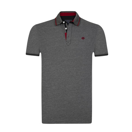 Cham Polo Shirt // Anthracite Melange (S)