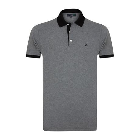 Bomonthy Polo Shirt // Anthracite Melange (S)