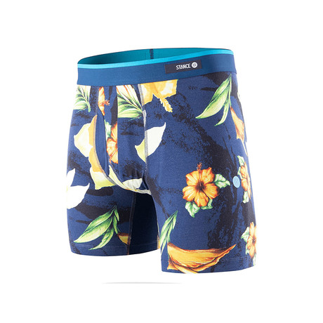 Hibiscus Smear Boxer Briefs // Navy (S)