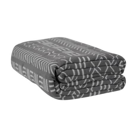 Premium Woven Blanket // Gray Mudcloth