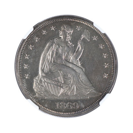 1869 Seated Liberty Dollar NGC & CAC Certified PF63