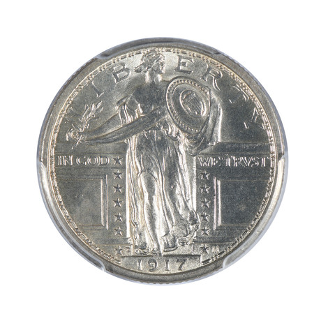 1917-D Standing Liberty Quarter, Type 1, PCGS Certified MS63FH