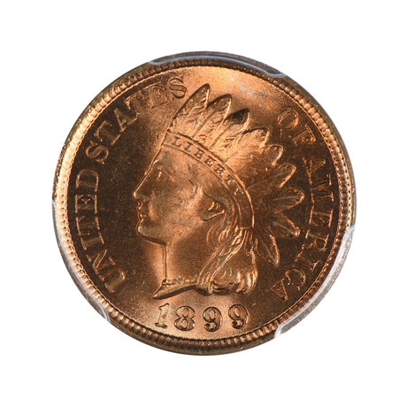 1899 Indian Cent PCGS Certified MS67RD