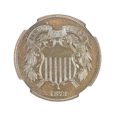 1873 Two Cent Piece NGC & CAC Certified PF65BN