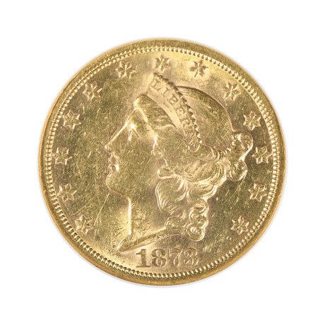 1873-S Liberty Head $20 Gold Piece NGC Certified MS60