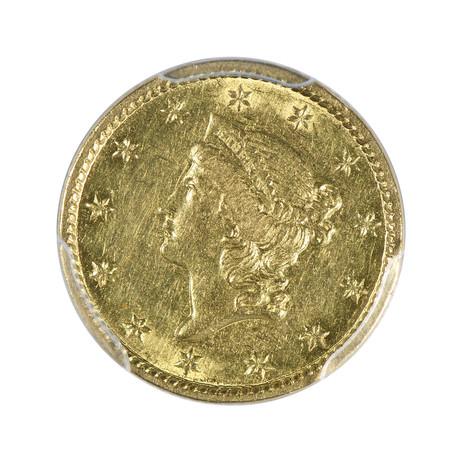 1851-C Liberty Head $1 Gold Piece PCGS Certified AU53