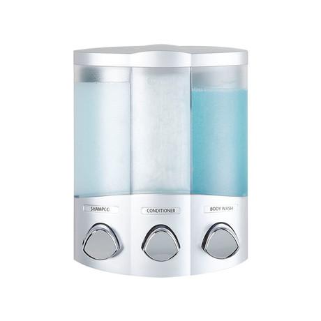 Euro TRIO Dispenser // 3 Chamber (Satin Silver)