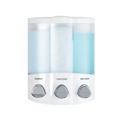 Euro Trio Dispenser // 3 Chamber (White)