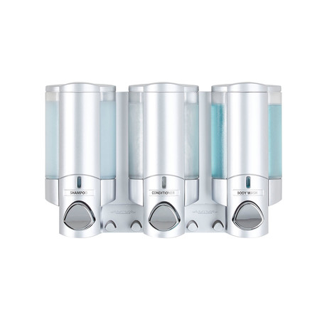 Aviva Dispenser // Satin Silver // 3 Chamber