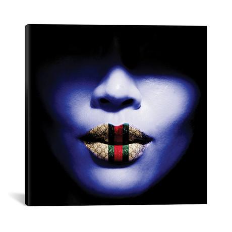 """Gucci Lips (12""""W x 12""""H x 0.75""""D)"""