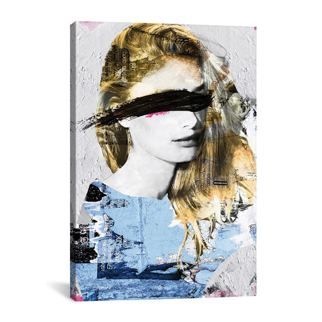 "Paper Girl III (12""W x 18""H x 0.75""D)"