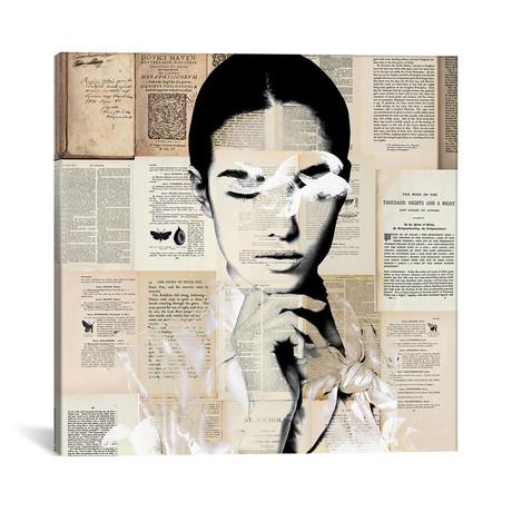 "Paper Girl // Caroline Wendelin (12""W x 12""H x 0.75""D)"