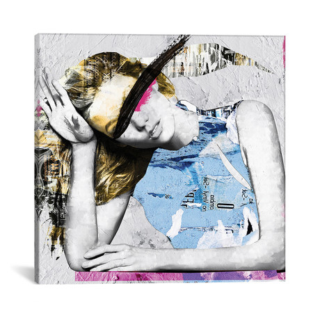 "Paper Girl I (12""W x 12""H x 0.75""D)"
