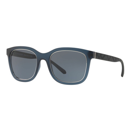Burberry // Men's Square Sunglasses // Matte Blue + Gray