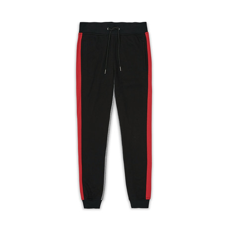 Retro Logo Jogger // Black + Gray + Red (S)