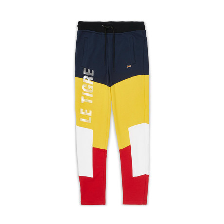 Booster Jogger // Red + Blue + Yellow (S)