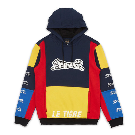 Booster Hoodie // Red + Blue + Yellow (S)