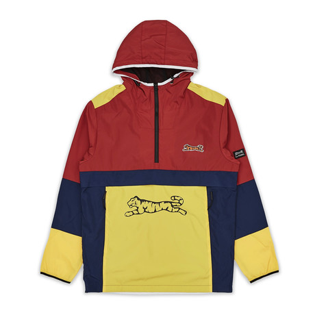 Rescue Quarter Zip Anorak // Red + Blue + Yellow (S)