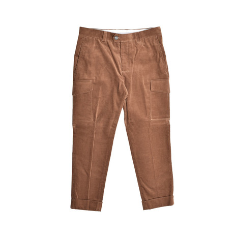 Casual Corduroy Pants // Brown (30WX32L)