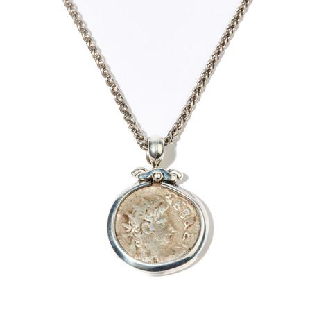 Roman Egypt // Nero and Augustus Caesar Silver Coin Pendant