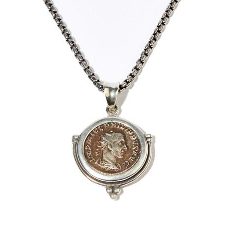 Ancient Rome // Philip I, 244-249 AD // Silver Coin Pendant