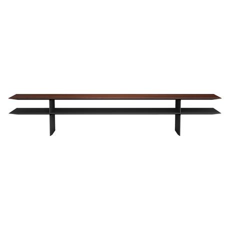 Kensington Sofa Console // Rosewood + Black
