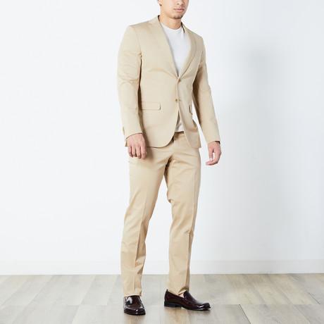 Uriel Half Lined Suit // Khaki (Euro: 46)