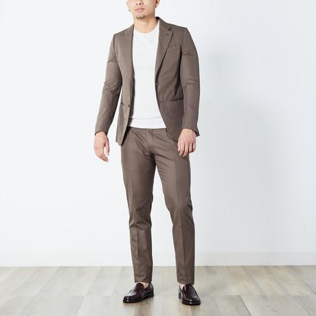 Jaylen Half Lined Suit // Brown (Euro: 46)