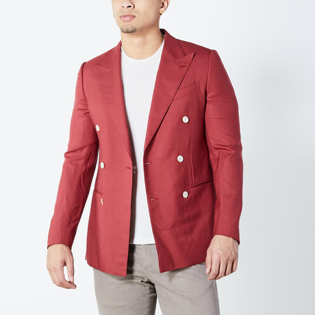 Alonso Half Lined Tailored Jacket // Red (Euro: 46)