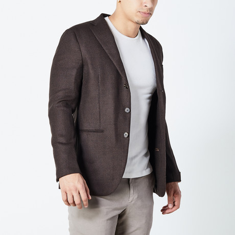 Sidney Half Lined Tailored Jacket // Brown (Euro: 46)