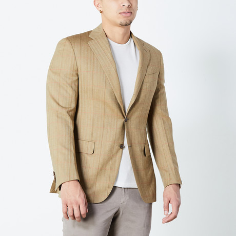 Michael Fully Lined Tailored Jacket // Brown (Euro: 46)