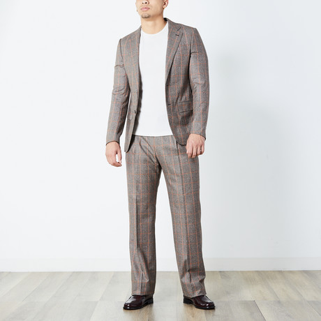 Wade Fully Lined Suit // Brown (Euro: 46)
