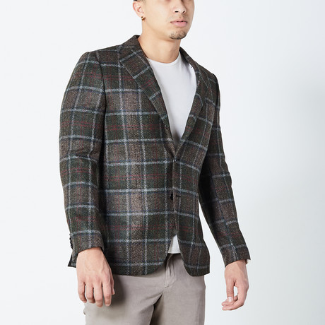 Logan Fully Lined Tailored Jacket // Brown (Euro: 46)